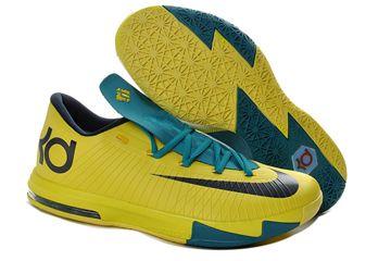 ff0c65efe0c1 Find Nike KD 6 Kevin Durant Cheap sale Green Blue 599424-400 ...