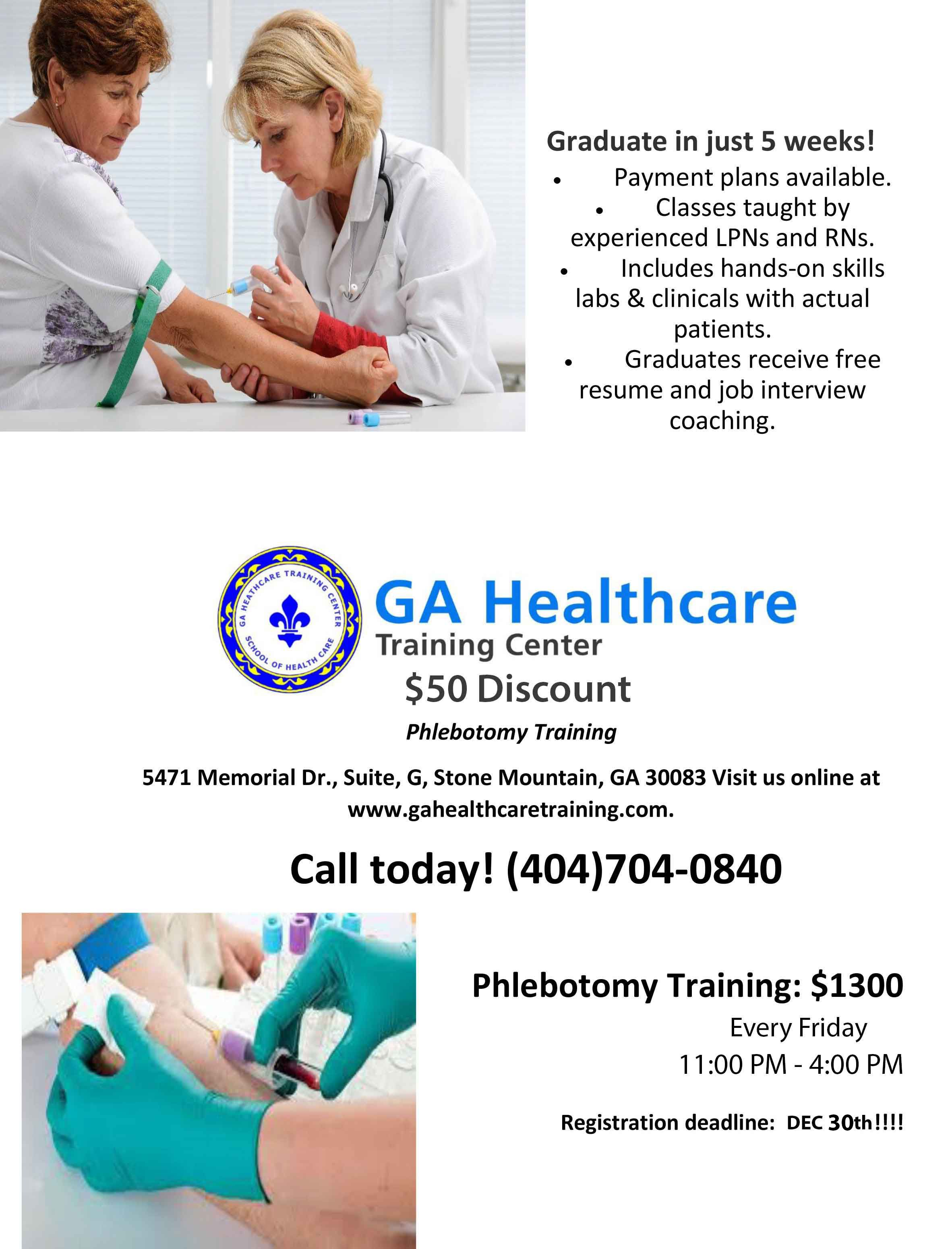 Our holiday gift to you 50 discount phlebotomy training website our holiday gift to you 50 discount phlebotomy training website gahealthcaretraining 1betcityfo Images
