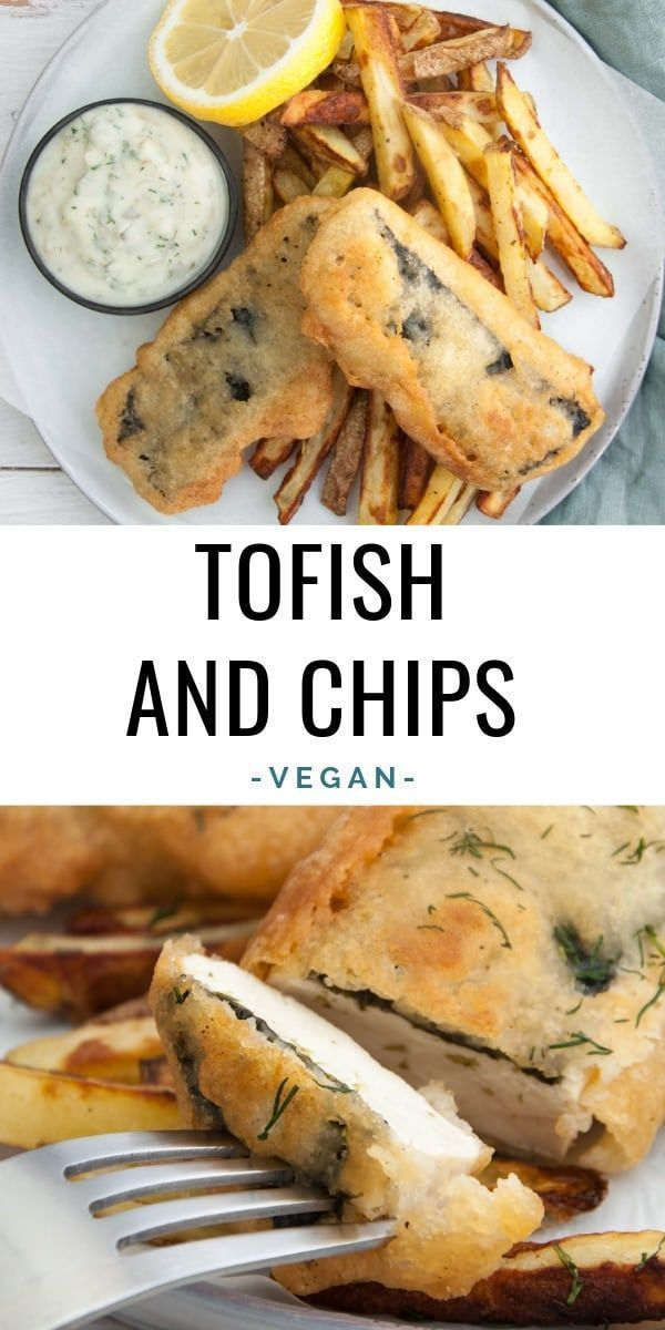 Vegan Tofish and Chips served with homemade Tartar Sauce Tofish and Chips served with homemade Tartar Sauce |
