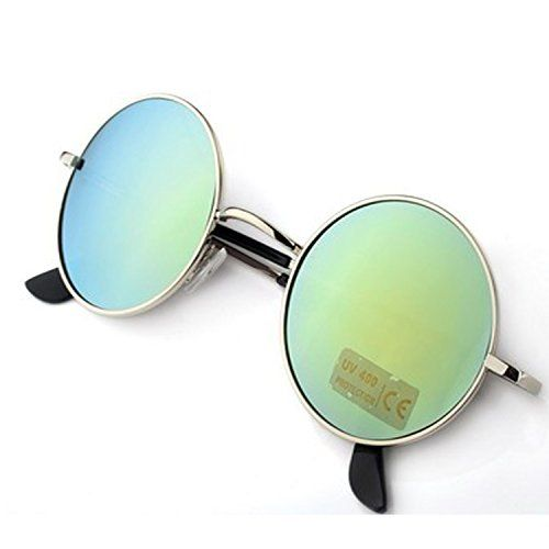 2c37332d8fb Younky Uv Protected Combo Of 3 Round Men s Women s Boy s Girl s Sunglasses  - (Ynk-Rgrn-Rslvr-Rblu