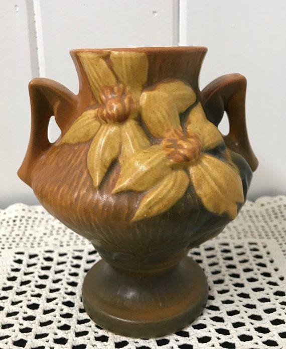 Vintage Roseville Vase Roseville Clematis Vase Clematis Flower