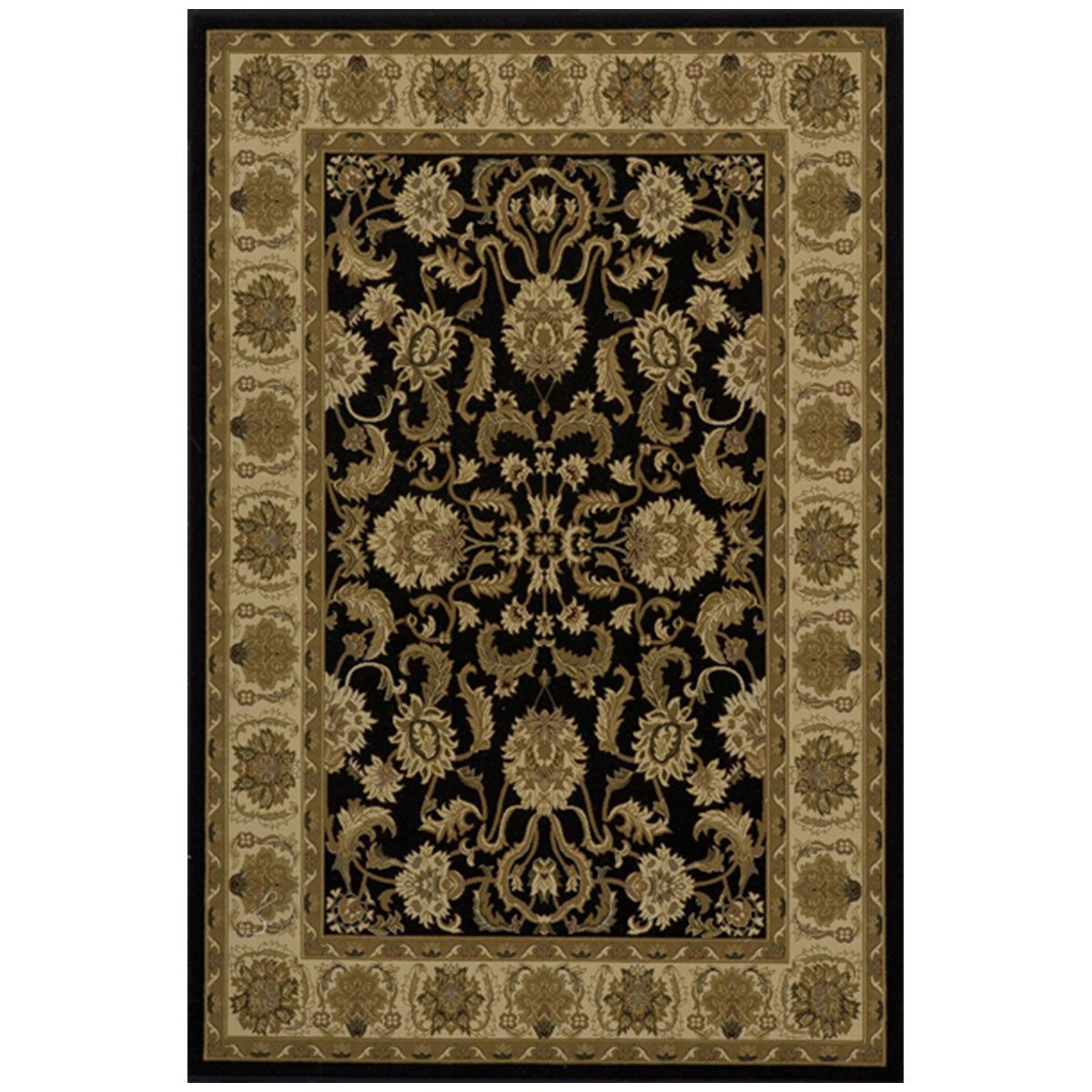 Royalry 04blk2033 Black Area Rugs Area Rugs Black Rug