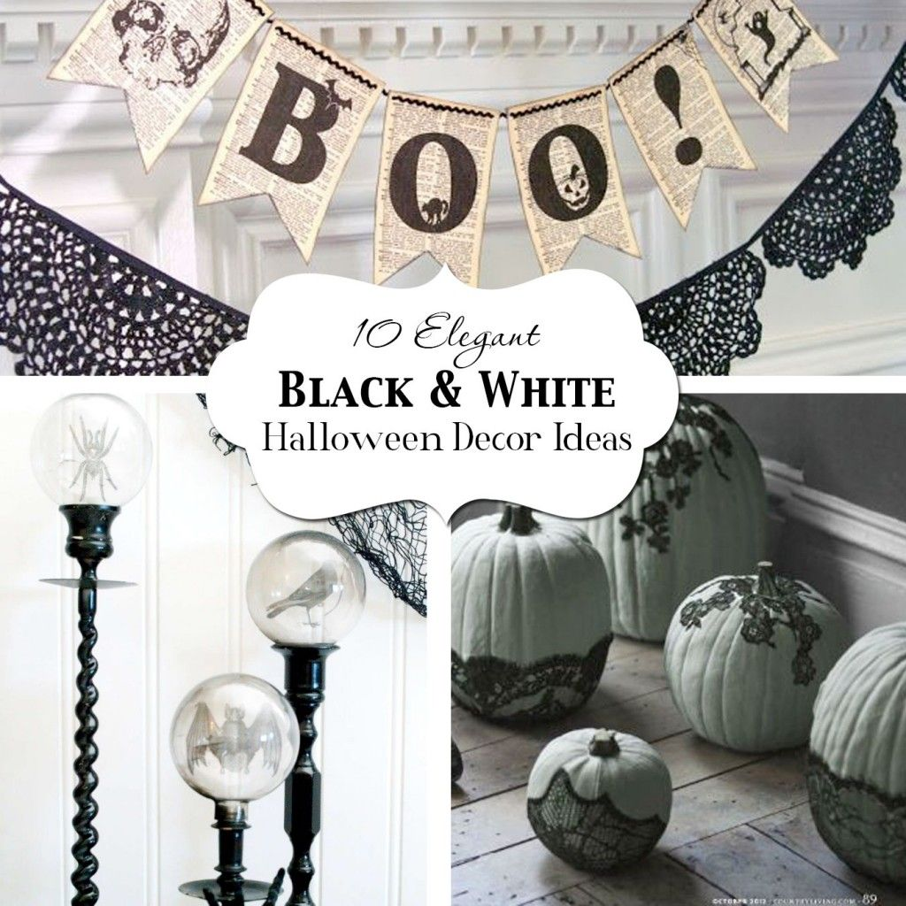 10 Elegant Black  White Halloween Decor Ideas Black white - Elegant Halloween Decor