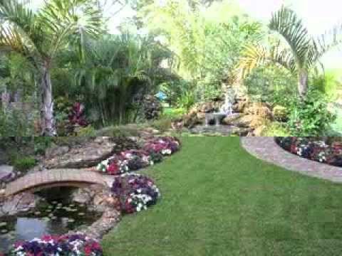 Dise o del jard n del patio trasero youtube paisajes for Diseno de jardines para el hogar
