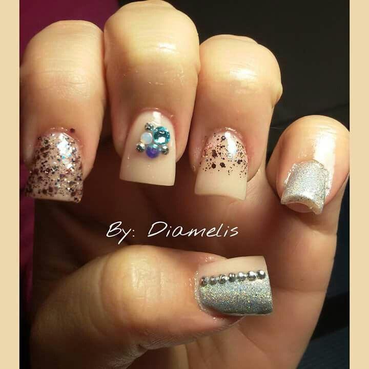 Nude/Blue diamonds...♡ by:Diamelis