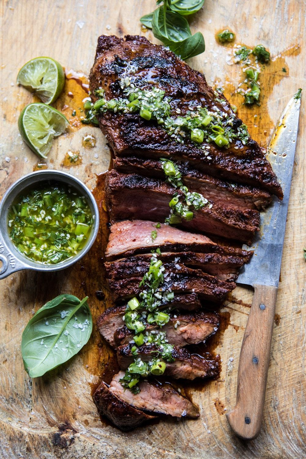 Korean Grilled Steak With Toasted Sesame Chimichurri Recipe
