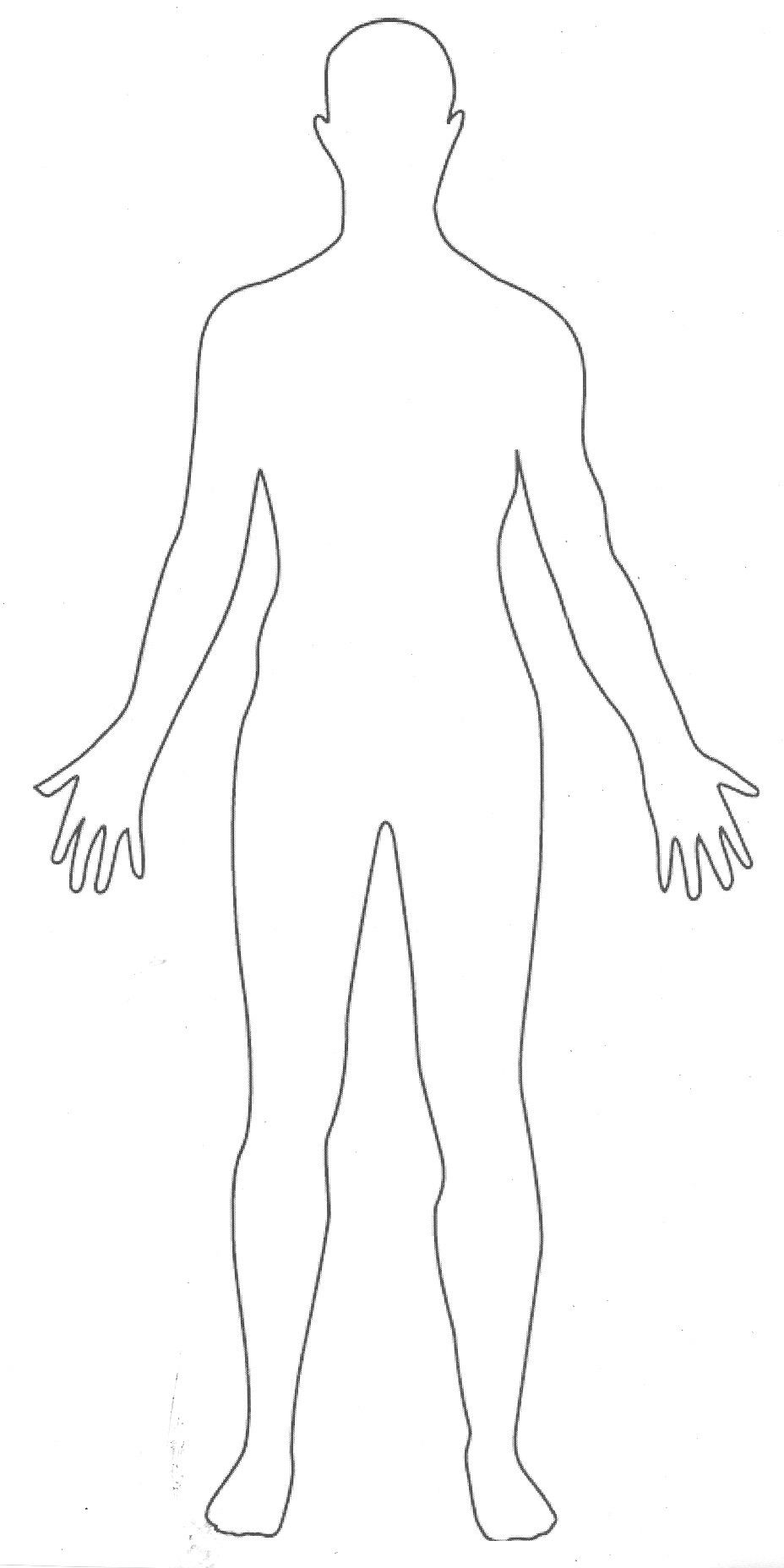 Outline Picture Parts Of The Human Body Great For Students To Draw