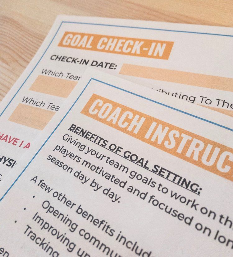 Volleyball Goal Setting Packet Coaching Volleyball Volleyball Team Bonding Goals Worksheet
