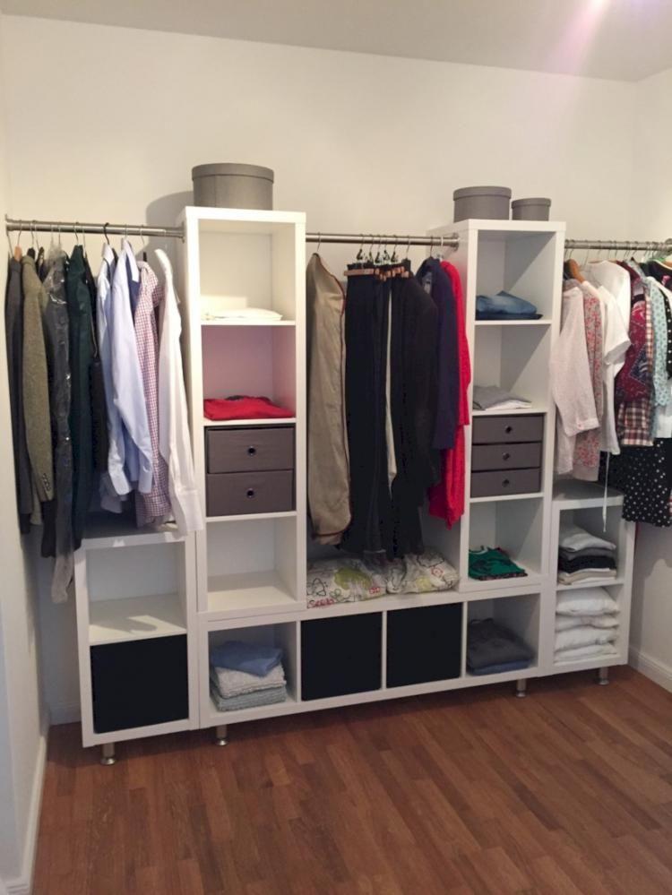 60 Awesone Stunning Ikea Kallax Ideas Hacks Idee Dressing Amenagement Dressing Rangement Dressing