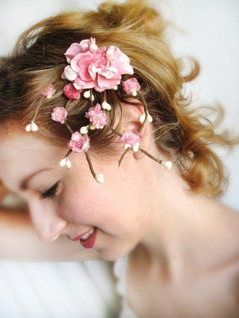 Items Similar To Cherry Blossom Hair Accessories Pink Bridal Flower Hair Clip Wedding Hair Bridal Hair Flower Clip Wedding Hair Pieces Bridesmaid Hair Clips