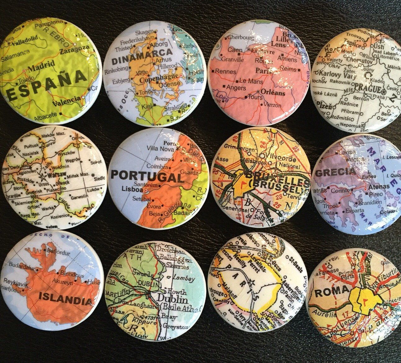 A personal favorite from my etsy shop httpsetsyca world map decorated wooden drawer knobs 6 in this set gumiabroncs Image collections