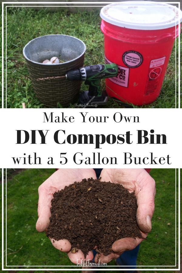 DIY Compost Bin with a 5 Gallon Bucket | Compost, Garden ...