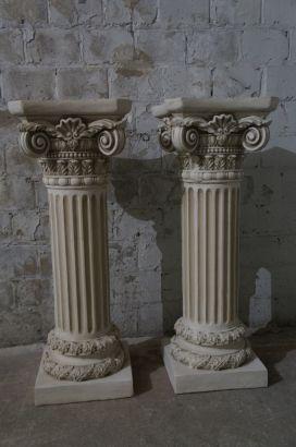 2 Large 37 Quot Corinthian Style Column Composite Pedestal