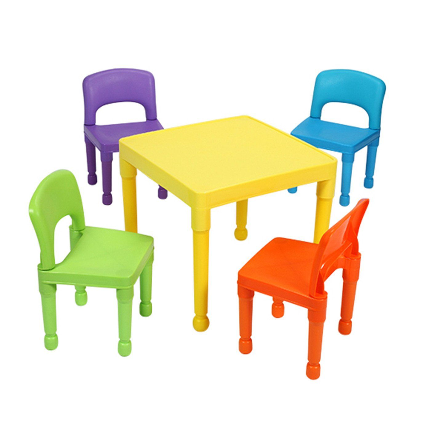 Liberty House Toys Childrenu0027s Multi Coloured Table U0026 4 Chairs Set, ...