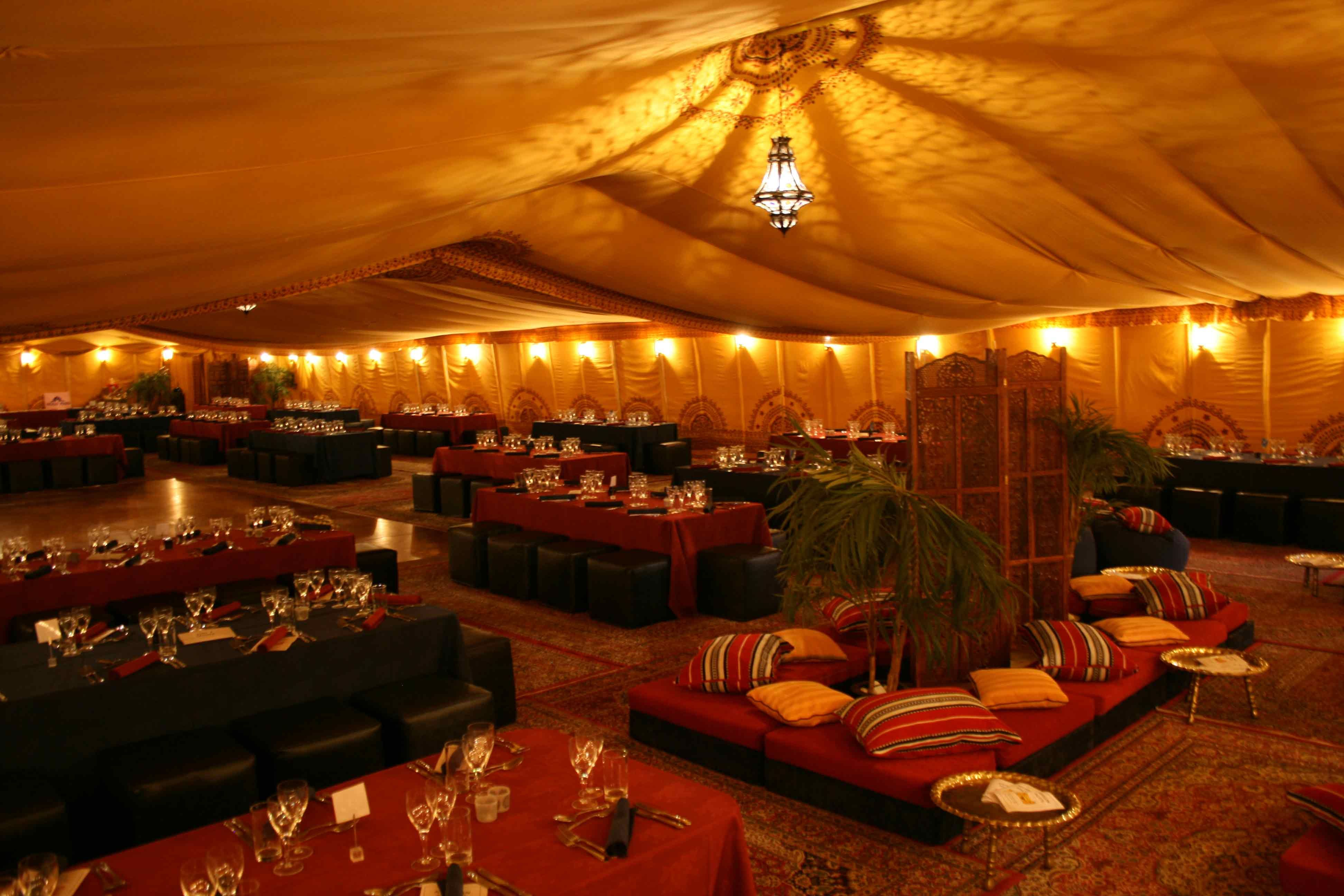 ceiling draping creates a rich atmosphere with minimal additional arabian decor hire home interior design ideas