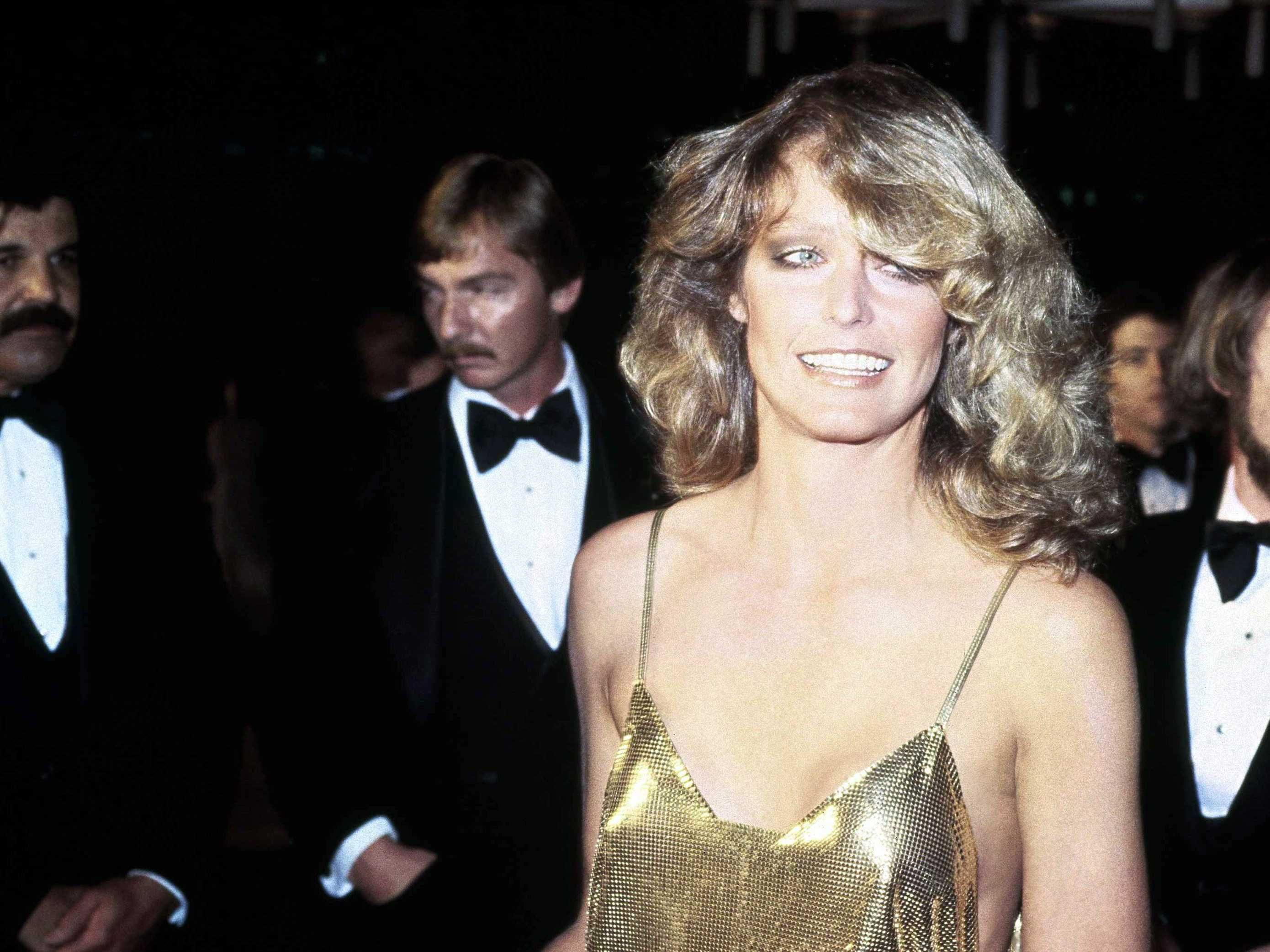 FARRAH FAWCETT presenter at the 50th Academy Awards; April 3, 1978.