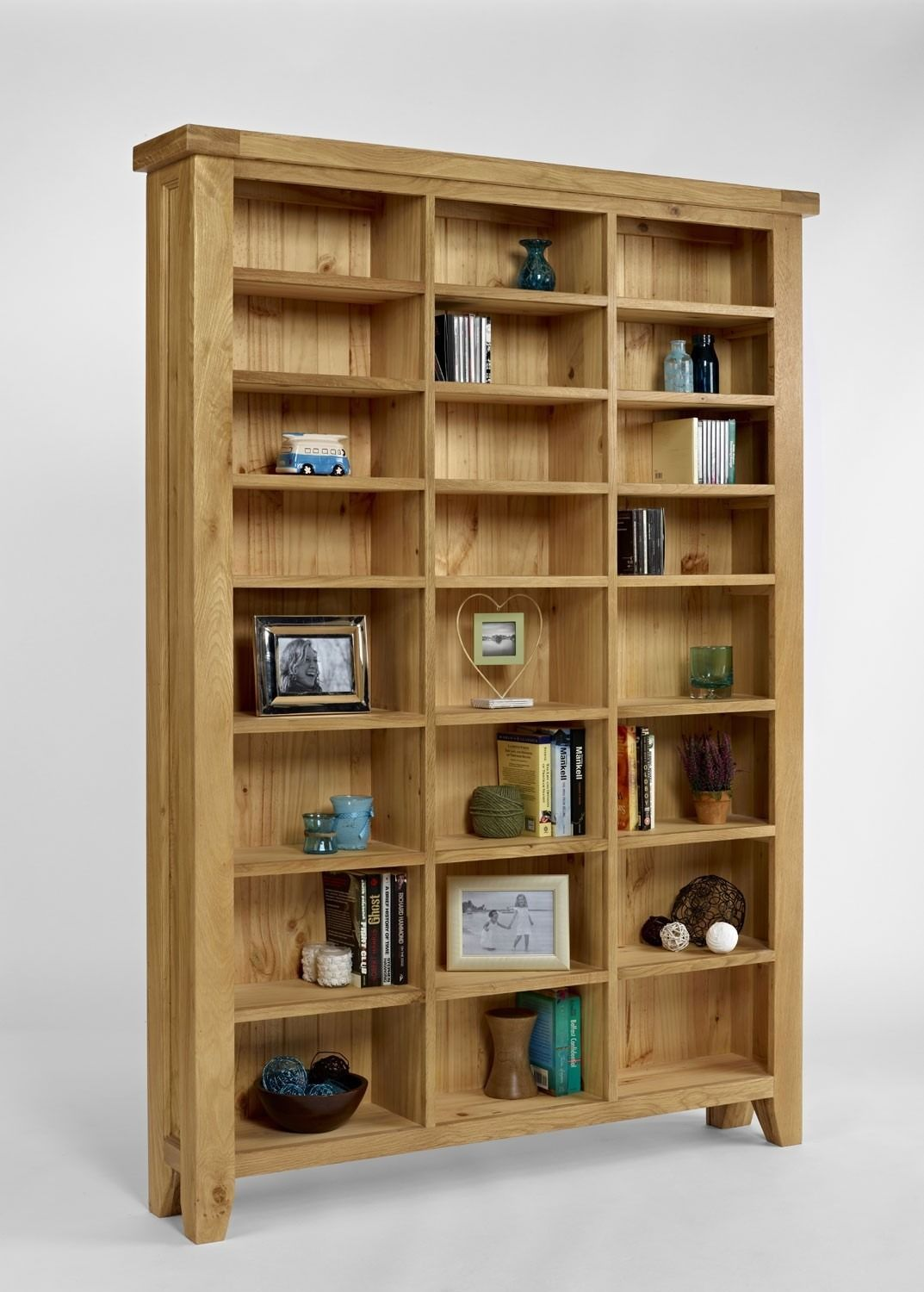 Elegance oak large cddvd storage unit bookcases shelving elegance oak large cddvd storage unit eventshaper