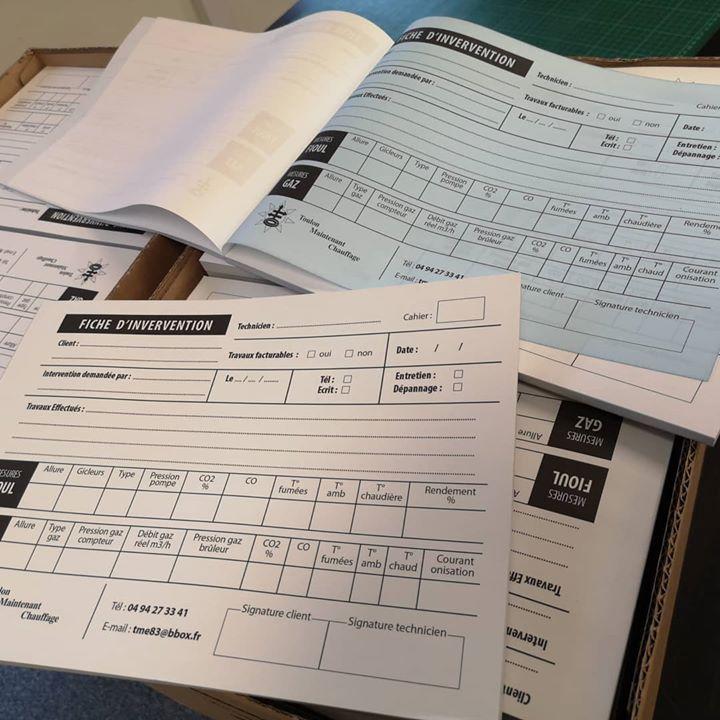Réalisation et impression de 100 carnets d'entretien avec ...