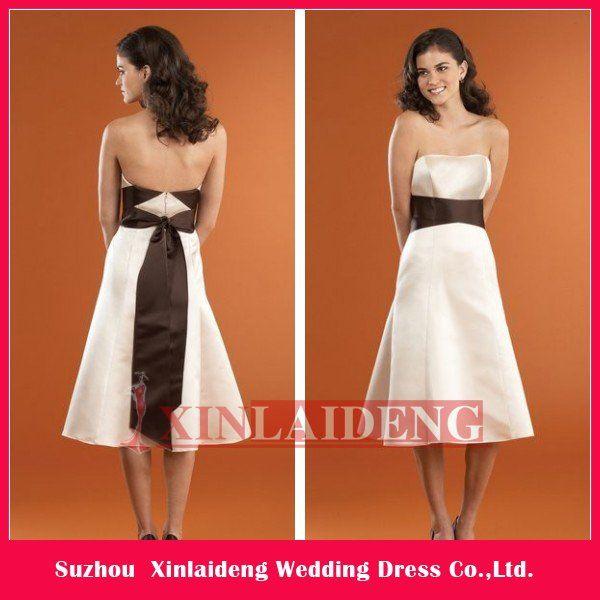 Aliexpress Buy BDM072 Hot Selling Online 2012 Satin Tea Length Bridesmaid Dress Patterns