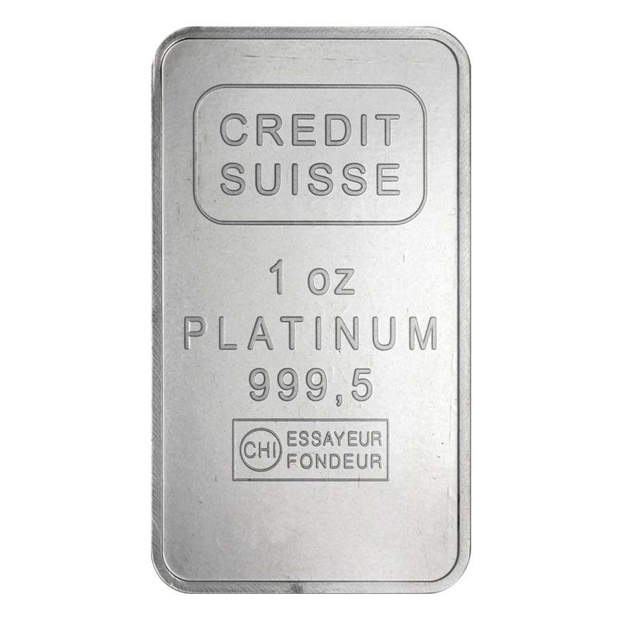 1 Oz Credit Suisse Platinum Bar 9995 Fine W Assay With Images Credit Suisse Platinum Positive Images