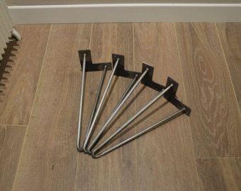 x4 pieds de table 15 cm epingle cheveux hairpin legs. Black Bedroom Furniture Sets. Home Design Ideas