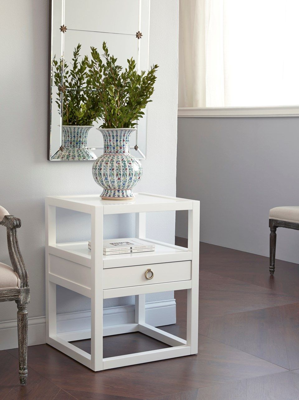 Alternate Side Table Idea    Like The Drawer In The Middle And Off The  Ground Nice Look