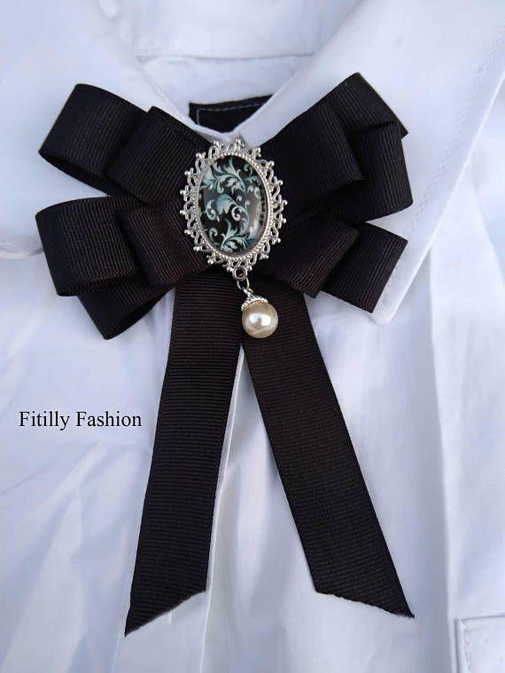 Beautifull New trend Ribbon Brooch  Woman Brooch  Bow Brooch  Black brooch  Dimension is about 10 x 12 cm. 8ea0722bcc7d