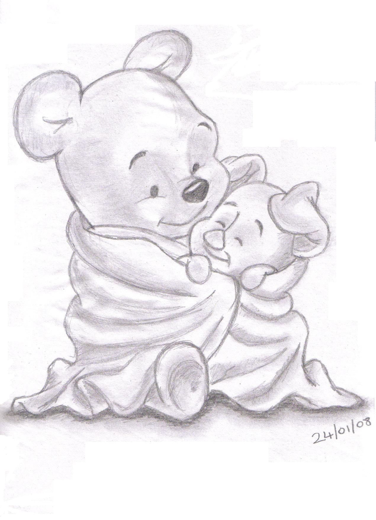 Winnie et Porcinet | dessin | Pinterest | Winnie de pooh, Dibujo y Lápiz