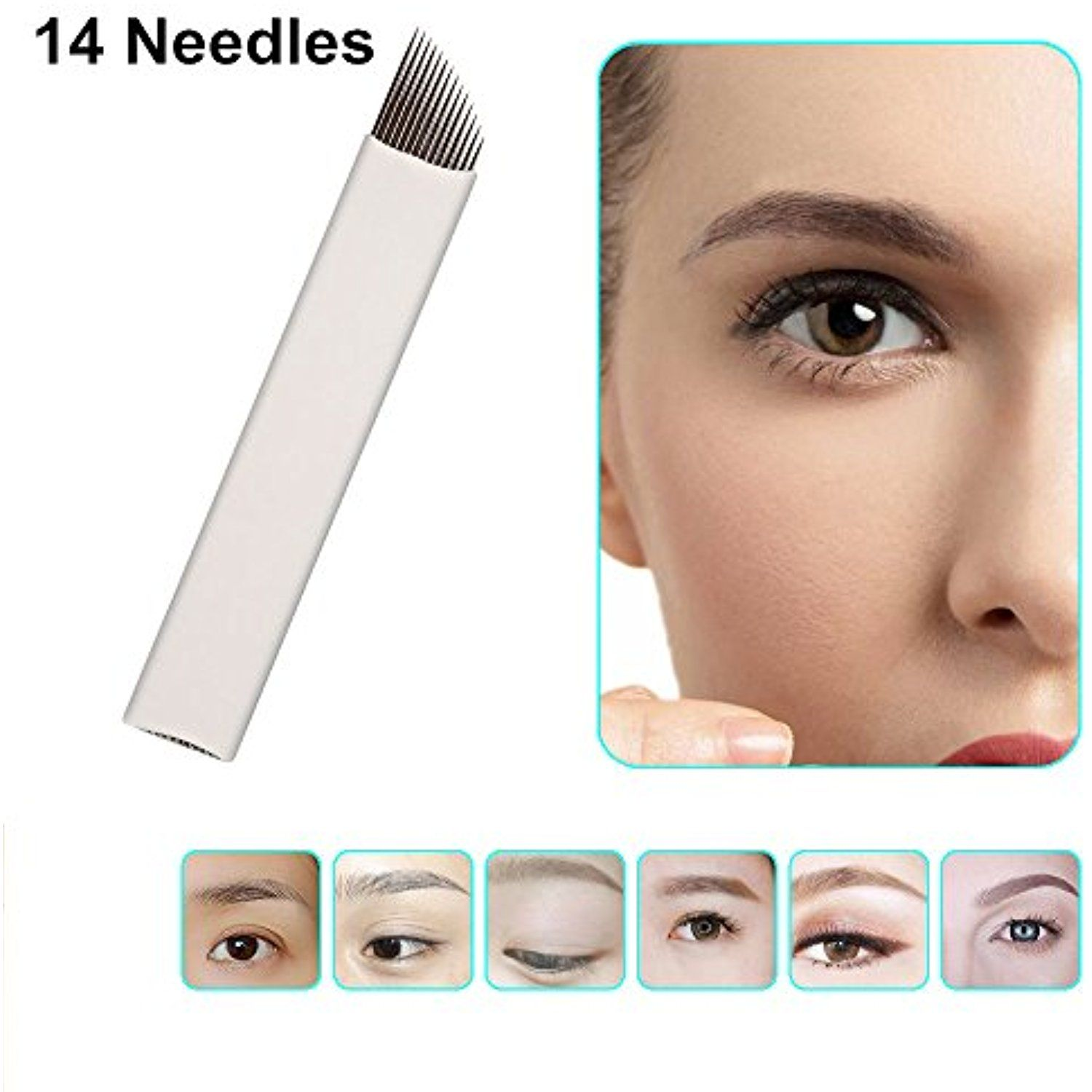 VideoPUP(TM) Permanent Makeup Manual Eyebrow 50pcs