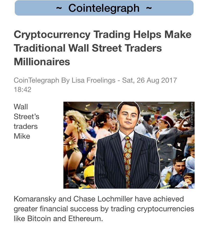 cryptocurrency trading wallstreet millionaire