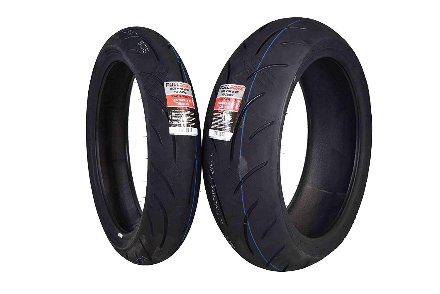 Full Bore Super Bike F2 Tire Set 1 Front 120 70zr17 And 1 Rear 190 50zr17 Pair Tires 120 70 17 190 Sports Bikes Motorcycles Automotive Tires Motorcycle Tires