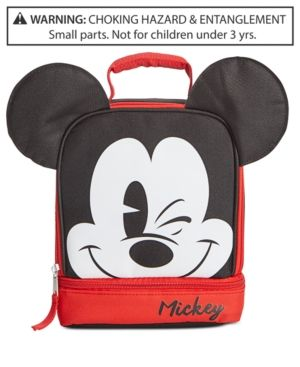 d4883aa22f59 Disney s Little   Big Boys Mickey Mouse Double-Compartment Lunch Bag - Black