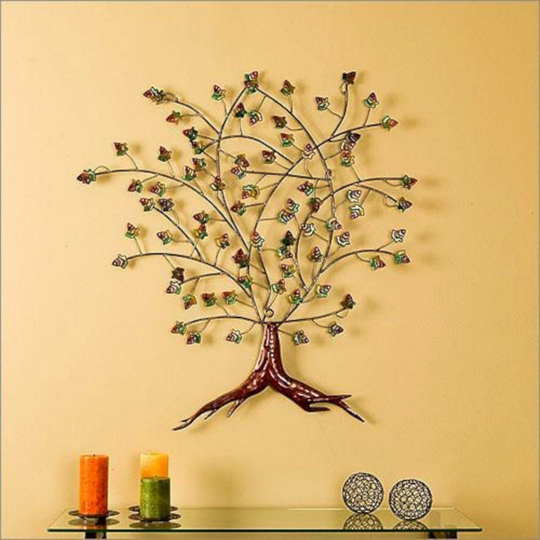 40+ Awesome Wall Decoration Ideas You\'ll Love | Metal tree, Metal ...