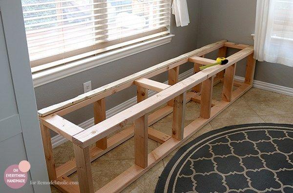 Kitchen Nook Makeover | Adding a Bench