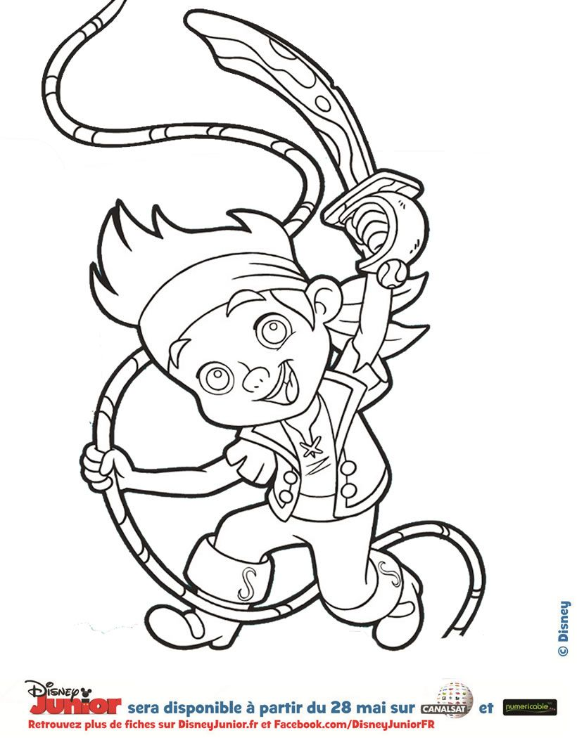 coloriage disney jake le pirate
