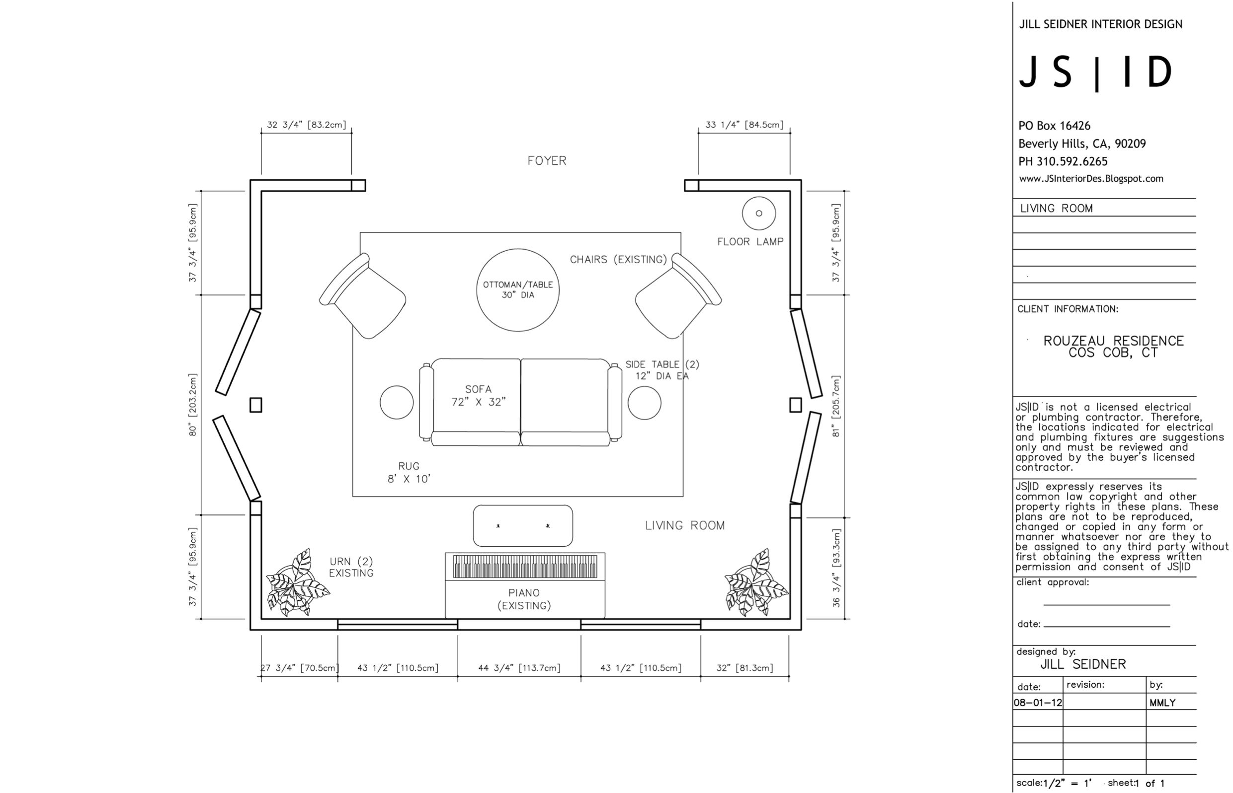 Cos Cob, Ct Online Design Project, Living Room Furniture Floor