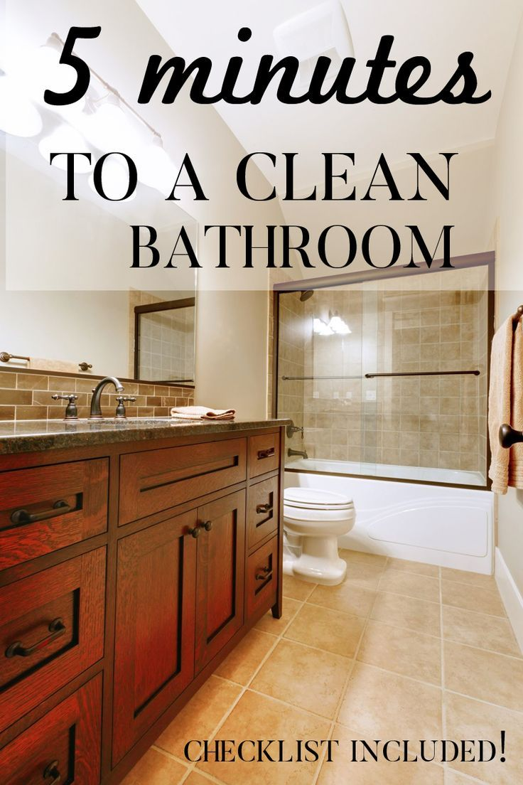 5 Minutes To A Clean Bathroom Everyday Bathroom Cleaning Cleaning Simple Bathroom