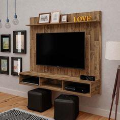 Painel Para Tv 42 Polegadas Mister Rustico 160 Cm Em 2020 Painel