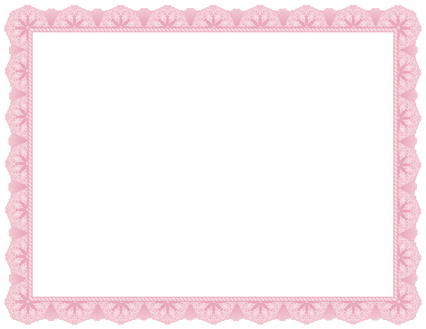 A Pink Certificate Border Free Downloads At Httppageborders