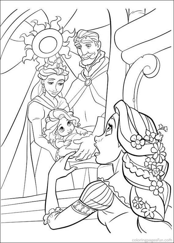 Coloring Pages For Rapunzel : Tangled rapunzel coloring pages 62 pinterest