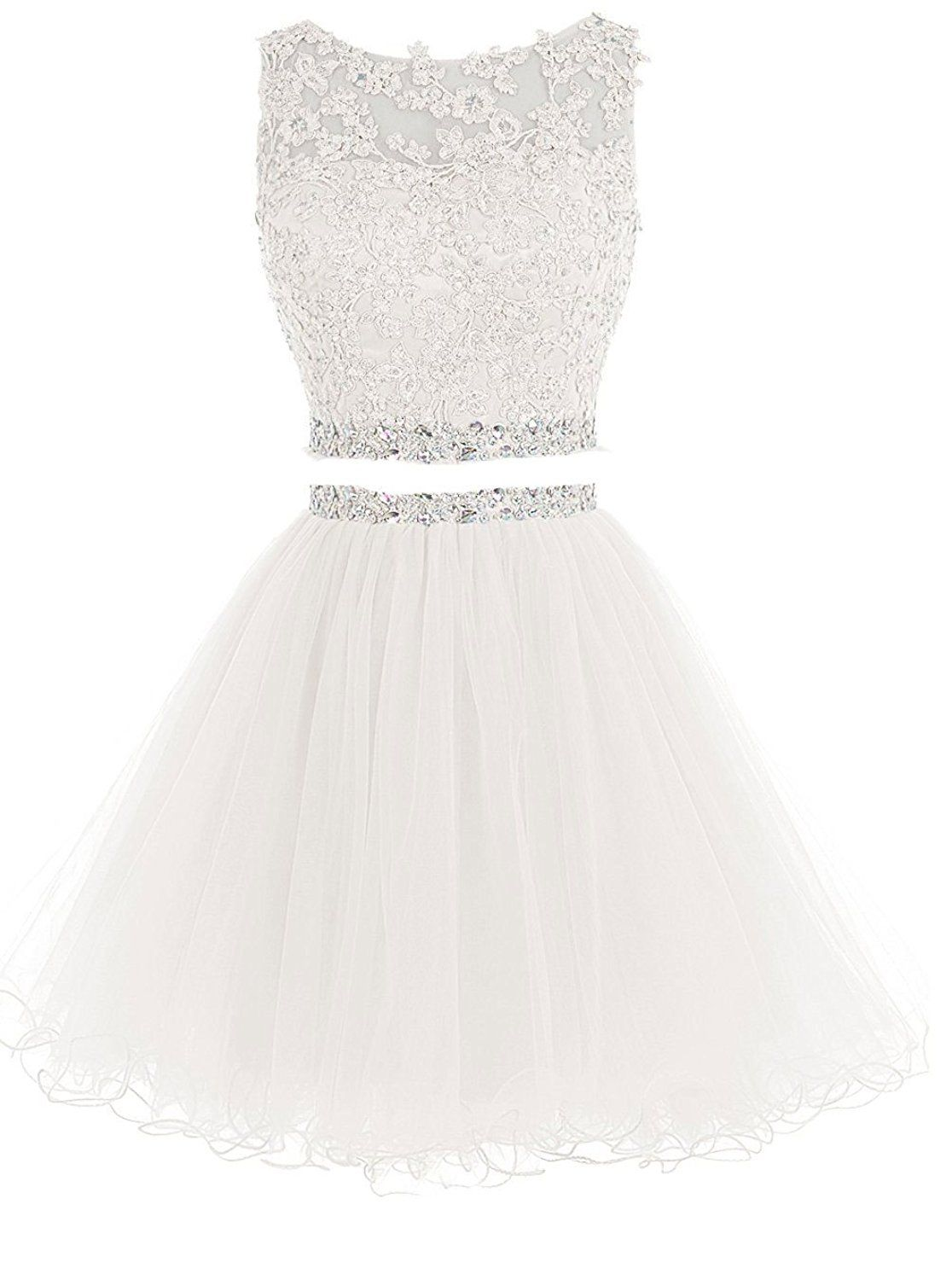 Ivory or White Gorgeous prom dresses in Pinterest