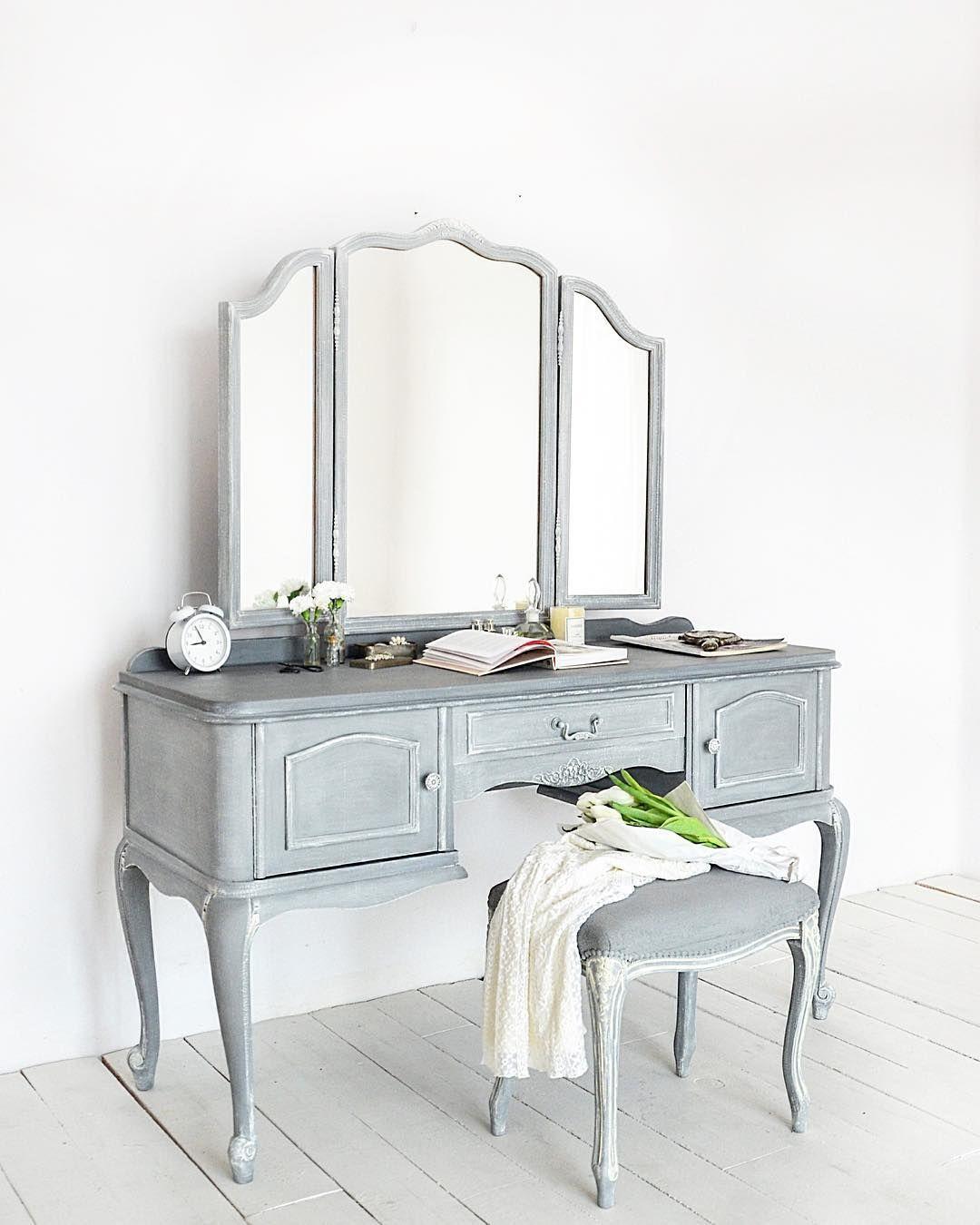 Custom chalk paint decorative paint by annie sloan vanity dresser
