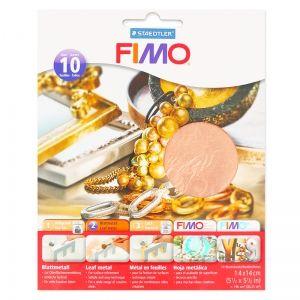 Feuilles de métal Cuivré à utiliser pour réaliser de jolies dorures sur toutes vos créations en pâte polymère. A partir de 6,60€ >>> https://www.perlesandco.com/Feuilles_de_metal_140x140_mm_Cuivre_x10-p-82062.html