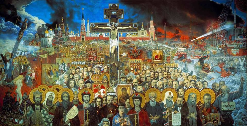 Eternal Russia by Ilya Glazunov, 1988.
