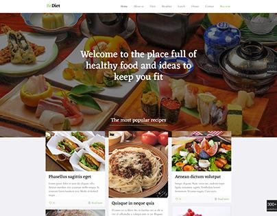Check Out New Work On My Behance Portfolio Diet Wordpress Website Template Design Ht Website Template Design Website Templates Wordpress Template Design