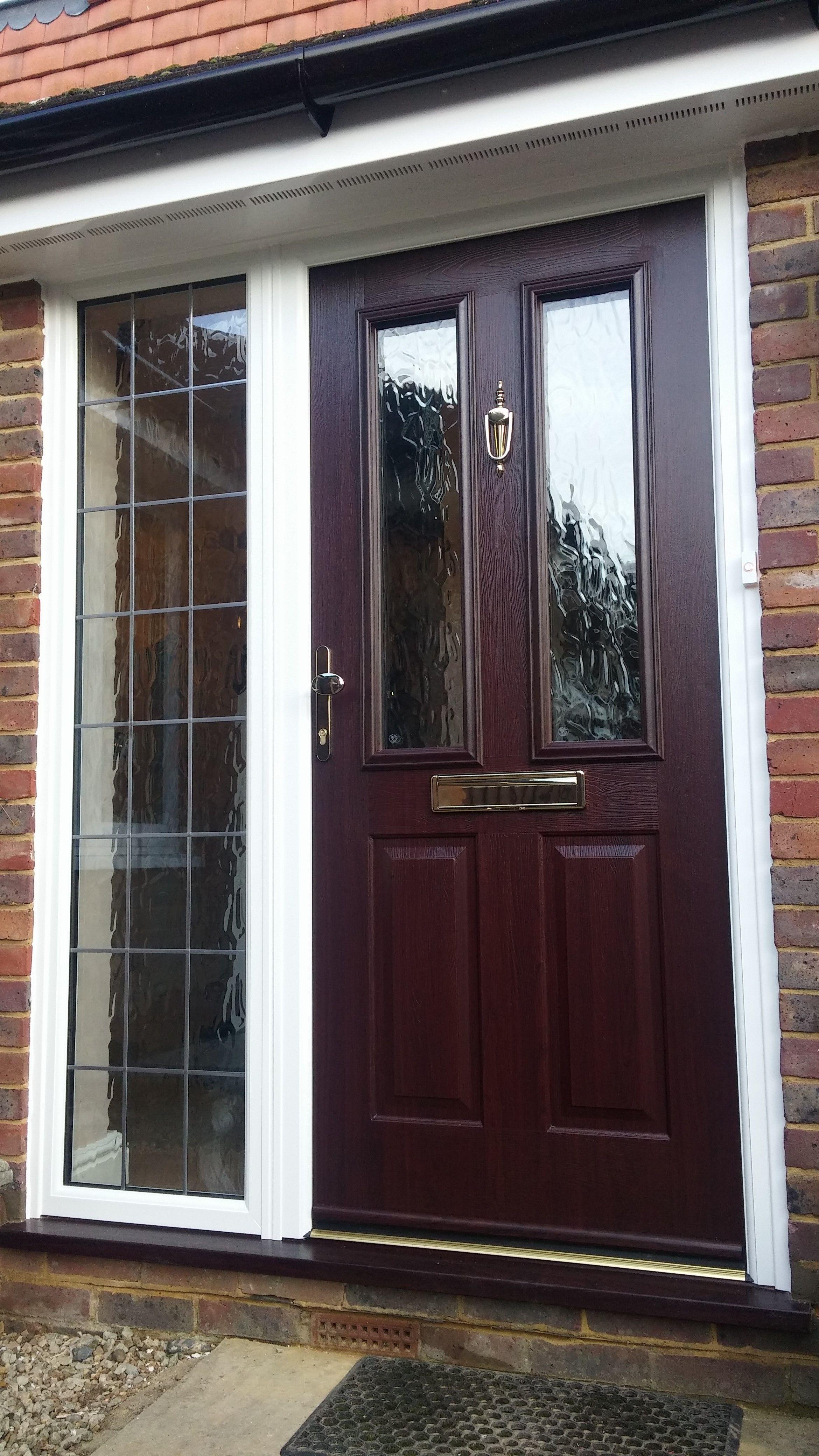 Rosewood Colour Composite Front Door By Dorking Glass Porch Doors
