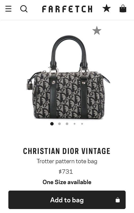 Christian Dior Trotter Mini Speedy 20 Top Handle Vintage Authentic  Blue  Jacquard Diorissmo PVC Canv 12d515b966