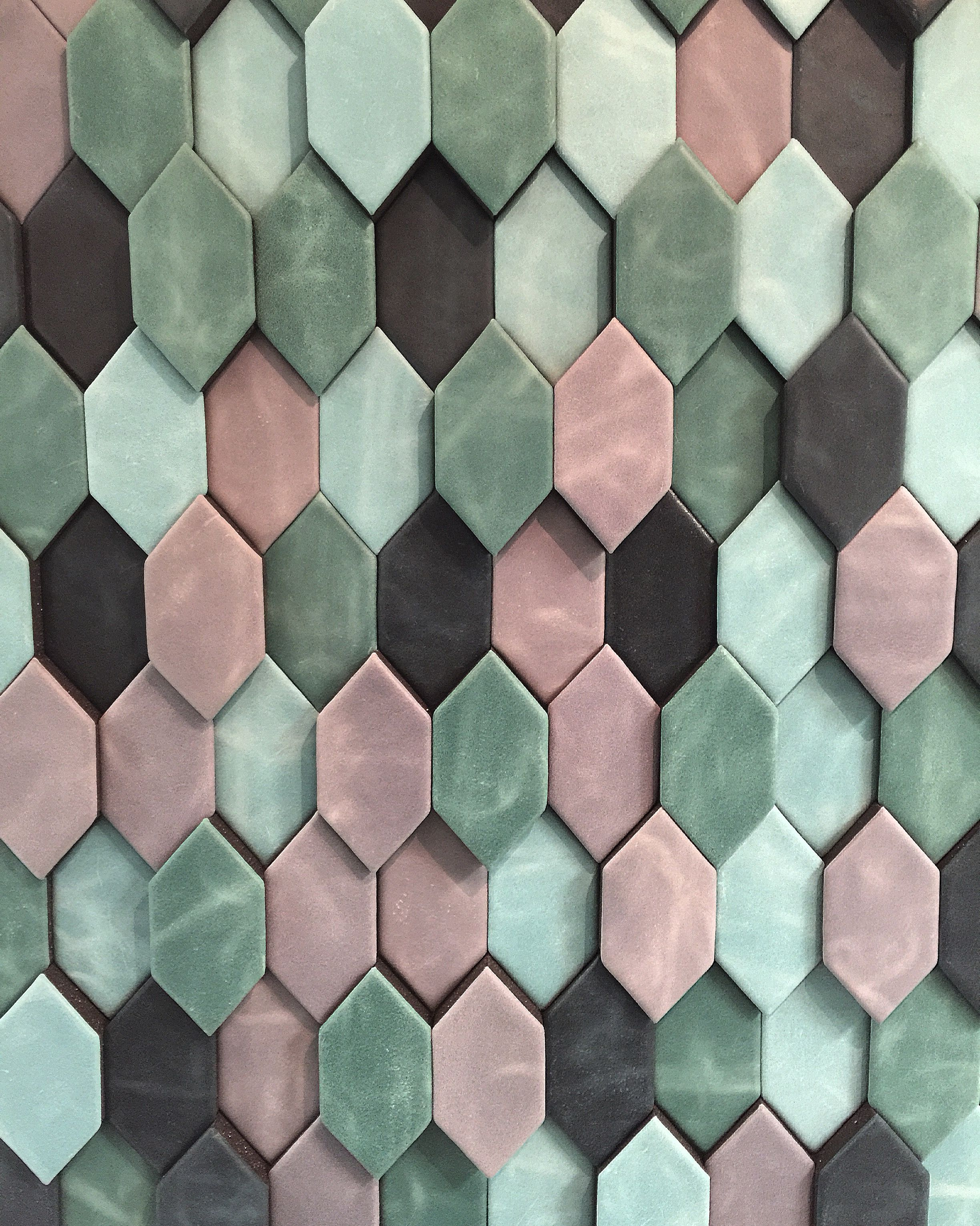 3D leather wall Made by Cuir au Carré www.cuiraucarre.com ...
