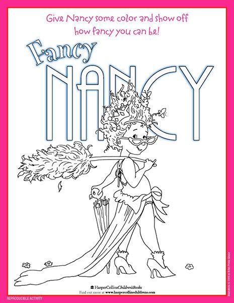 Fancy Nancy Printable Activities Fancy Nancy Fancy Nancy Party Coloring Pages
