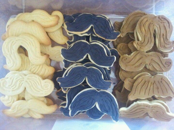 Moustache cookies. So yum!!